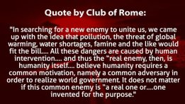 Club of Rome New Enemy quote