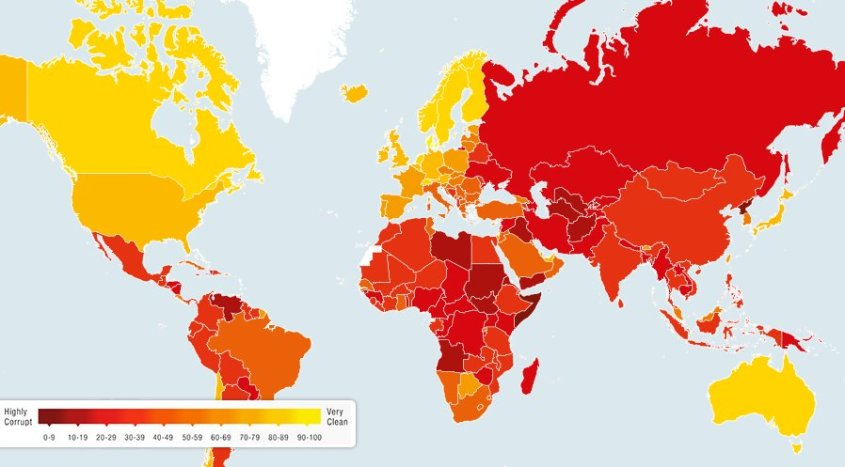 Most & Least Corrupt Countries 2014