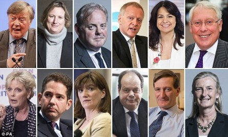 The 12 Remainer rebels