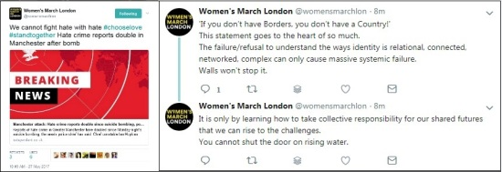 Womens March Islam open borders comp