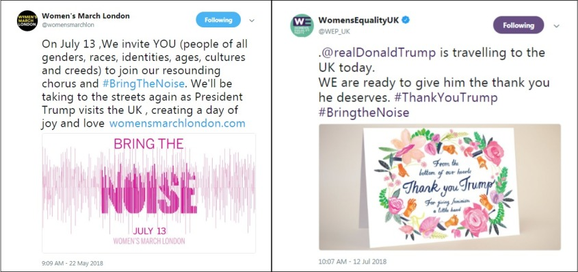 Womens March Womens Equality notifys re Trump visit