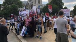 Anti-Qatar protest LON 23-27 JUL 2018