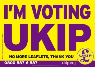 Poster I'm Voting UKIP