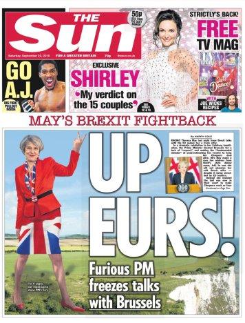 Sun Front Page Sat 22 Sep 2018
