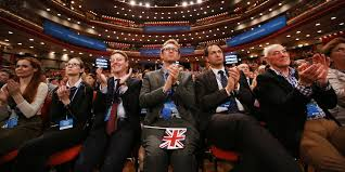Conference audience dutifully applauding