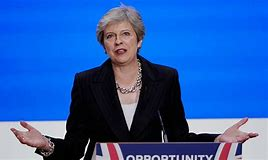 May doing Tory Conf speech Oct 18
