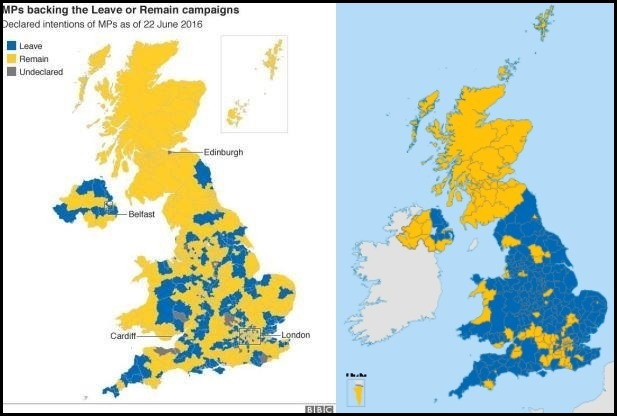 mps votes vs public votes eu ref 2016