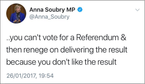 2017.01.26 Soubry on respecting Referendum result