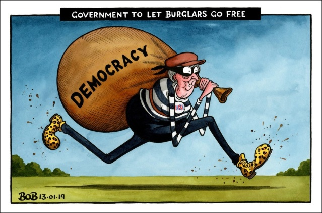 May the burglar makes off with British democracy