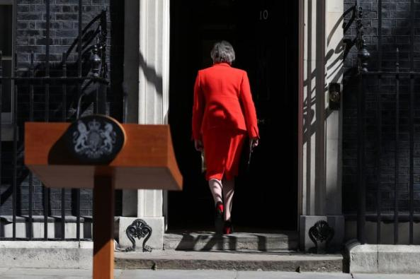 May back No 10 after resignation speech