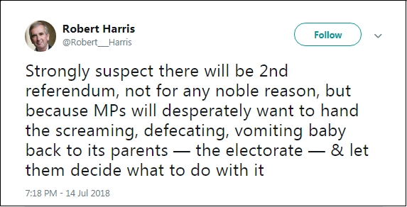 2018.07.15 Robert Harris disdain for democracy