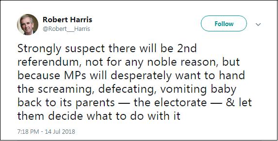 2018.07.15 Robert Harris disdain for democracy