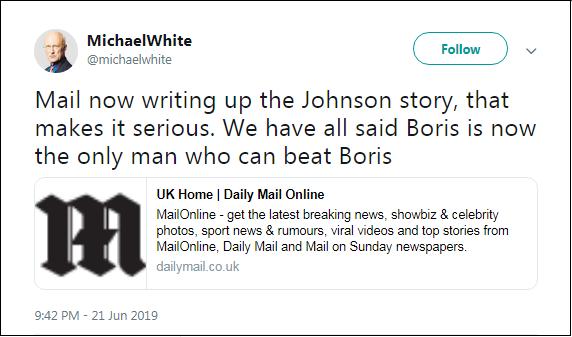 2019.06.20 White re Boris PM