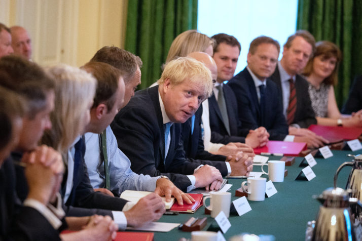 Prime Minister Boris Johnson Meets With His New Cabinet