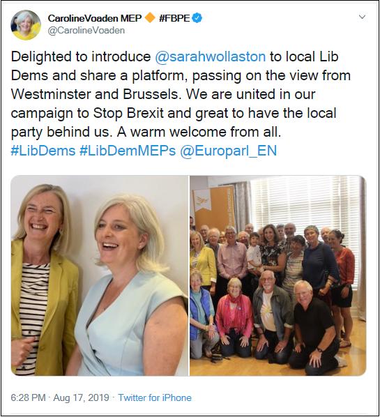 2019.08.17 LibDem MEP Voaden 2