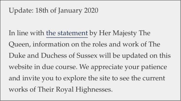Sussex-Royal statement still using HRH